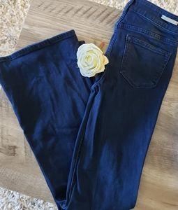 Anthro Pilcro and the Letterpress Dark Flare Jeans